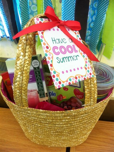 cool summer gift basket idea reusable tumbler