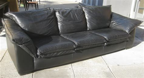 Sofa Schwarz Leder by Uhuru Furniture Collectibles Sold Black Leather Sofa