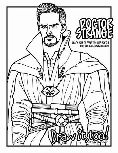 Strange Coloring Dr Doctor Avengers Drawittoo Infinity