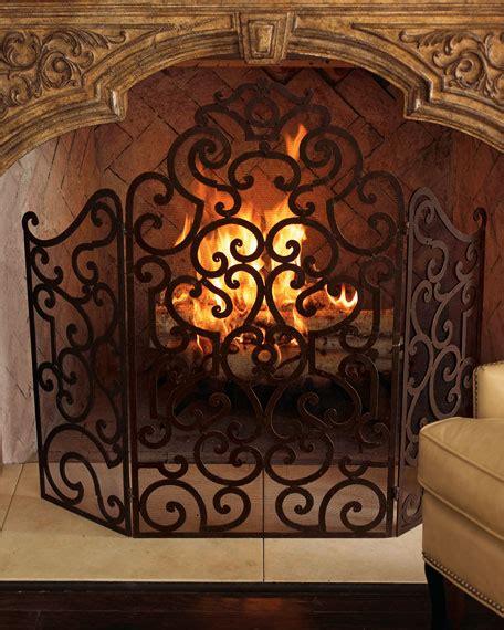 fireplace screen neiman marcus