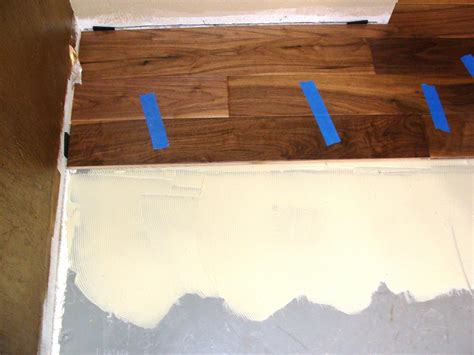 installing wood floor concrete installing hardwood flooring over concrete how tos diy