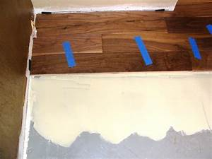 Installing hardwood flooring over concrete how tos diy for How to level a wood floor