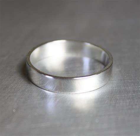 plain silver ring  men diamondstud