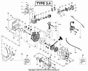 Poulan Bc2500le Gas Trimmer Type 4 Parts Diagram For