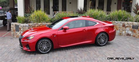 lexus cars red 2015 lexus rc f in red at pebble beach 92