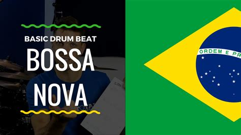 Bossa Nova drum lesson with sheet music and backing track.
