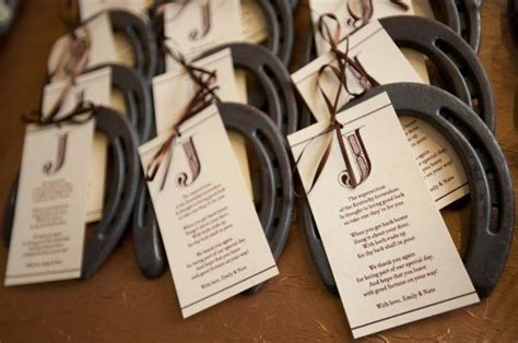 horseshoe wedding favors wedding favor ideas lucky horseshoe wedding and