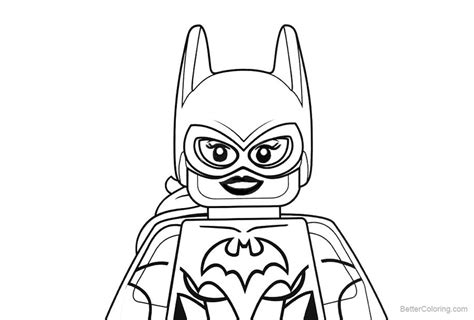 dc superhero lego batgirl coloring pages  printable