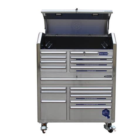 kobalt tool cabinet with refrigerator shop kobalt 68 7 in x 53 in 18 drawer bearing