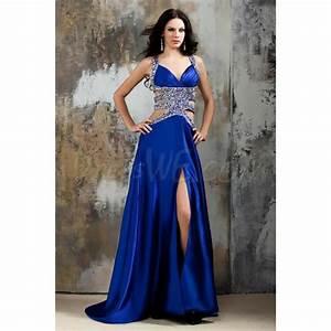 bleu royal robe de soiree pas cher des paillettes de With robe bleu pas cher