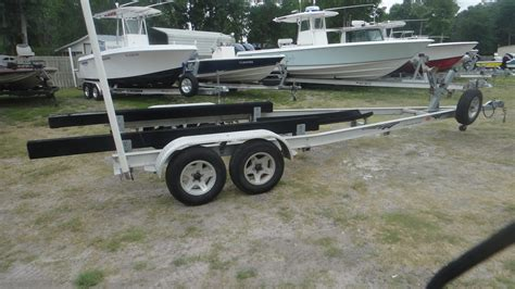 19 Ft Boat Trailer by Two Aluminum Trailers For Sale The Hull Boating