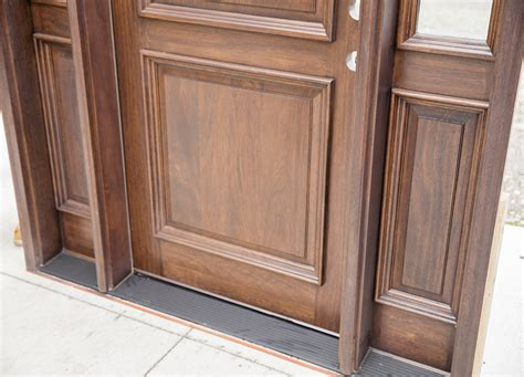 Cl-4162 Mahogany Exterior Door Walnut Finish