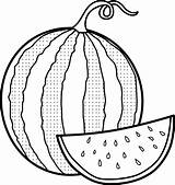 Watermelon Coloring Pages Melon Drawing Water Printable Colouring Sheets Fruit Getdrawings Sketch Fruits Template Mitraland Seedless sketch template
