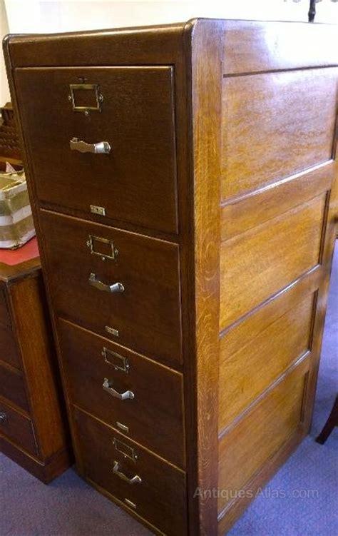 oak filing cabinet  drawers antiques atlas