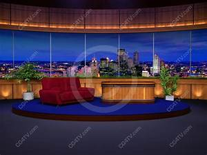 Talk Show Background for Green Screen Chromakey
