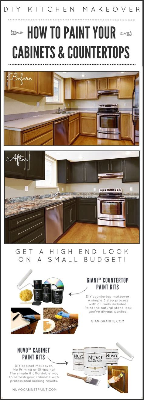 budget kitchen makeover diy faux marble countertops best 277 giani granite countertop paint images on