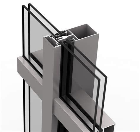sistema de muro cortina strugal s52 invertido strugal