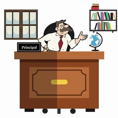 Principal Clipart Desk Transparent Clipground Tags