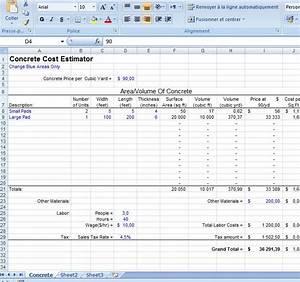 excel concrete cost estimator civil engineering program With concrete estimate template