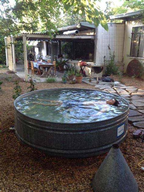 diy galvanized stock tank pool  beat  summer heat