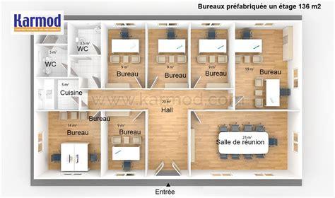 plan bureau bureaux préfabriquée 136m bungalow bureau bureau