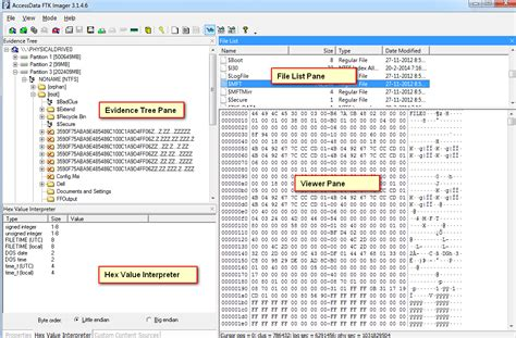 investigate files  ftk imager eforensics
