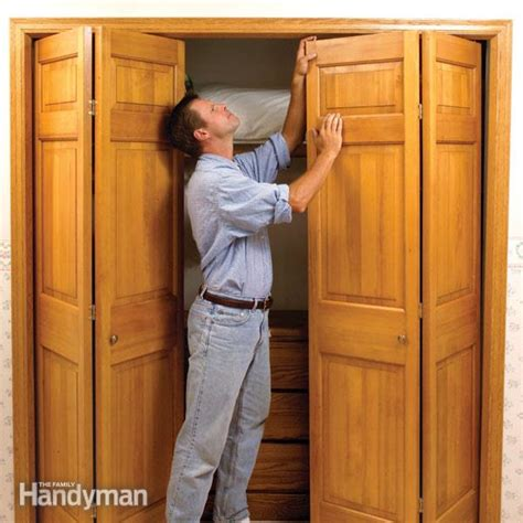 fix stubborn bifold closet doors  family handyman