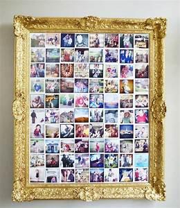 Bilder Collage Basteln : vergoldener bilderrahmen im barock stil mit bild aus mehreren polaroid fotos trixie1 in 2019 ~ Eleganceandgraceweddings.com Haus und Dekorationen