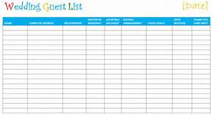 Wedding Guest List Template | free excel templates