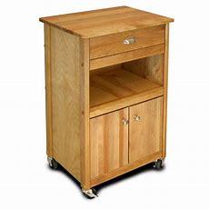 Catskill Craftsmen Natural Kitchen Cart With Storage64024