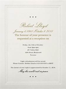 39 best funeral reception invitations love lives on With wedding invitation wording light refreshments