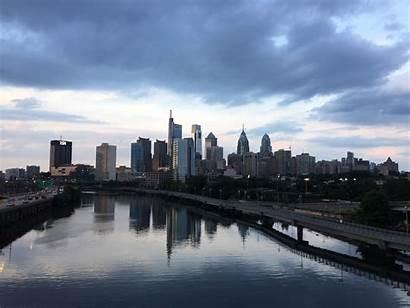 Philadelphia Philly Skyline Banks Schuylkill Answer Ly