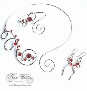 bijoux rouge bordeaux bijoux volutes mariage With bijoux mariage rouge