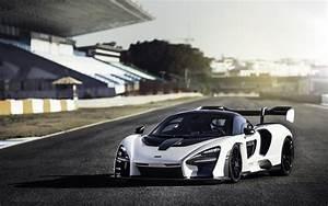 Wallpaper McLaren Senna, Pure White, Racing track, 2018