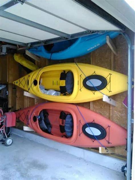kayak garage storage kayak storage kayaks and garage on