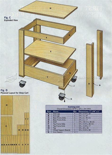 trailworthy workshop cart plans woodarchivist