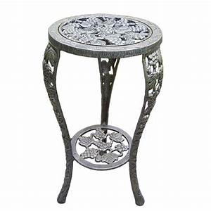 Oakland, Living, 26, In, Metal, Grape, Table, Plant, Stand-5027-ab
