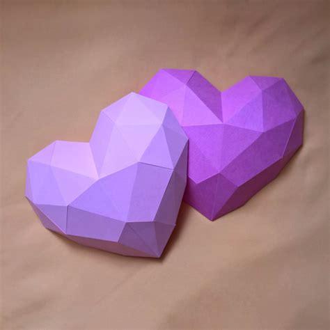 papercraft heart printable diy template
