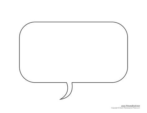 Free Printable Speech Bubble Templates