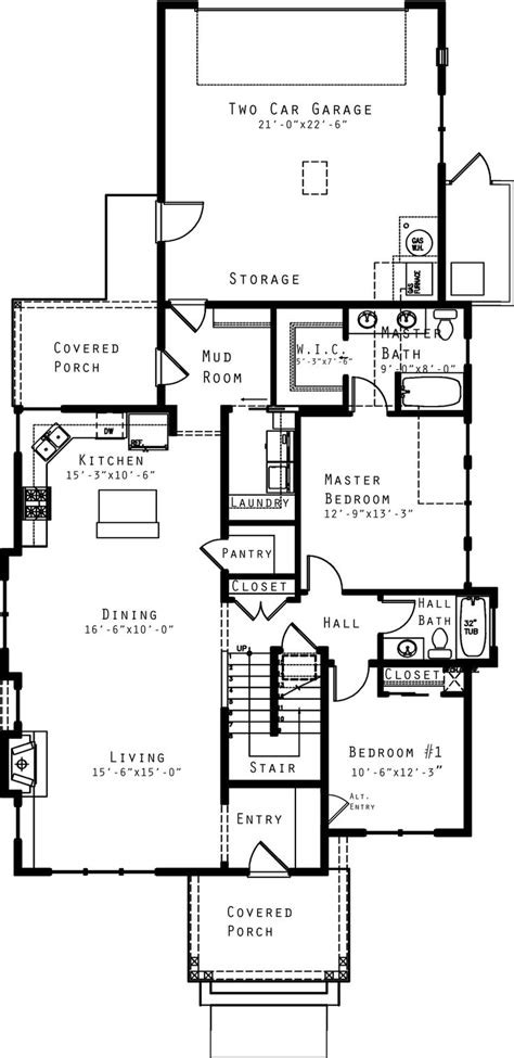 Craftsman Style House Plan 4 Beds 3 Baths 1940 Sq/Ft
