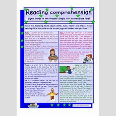 Reading Comprehension * Signal Words In The Present Simple Tense* For Intermediate Level * 2