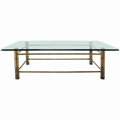 Coffee Mid Century Table Modern Glass Bamboo