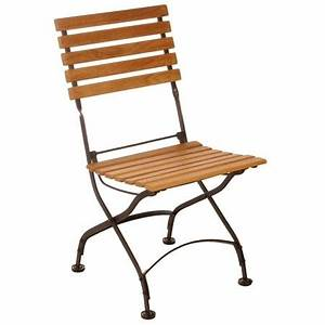Chaise Fer Forgé : chaise de jardin pliante fer et bois ~ Teatrodelosmanantiales.com Idées de Décoration