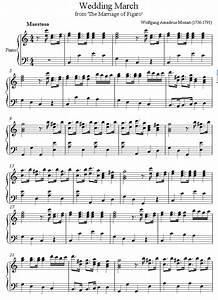 piano mozart wedding sheet music - 8notes.com