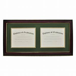 high school horizontal double document diploma frame With dual document frame