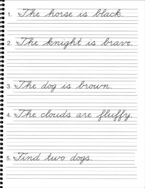 Penmanship Practice Sheets For Adults & Kindergarten
