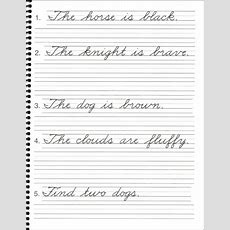 Penmanship Practice Sheets For Adults & Kindergarten