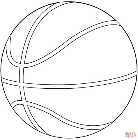 Kleurplaat Basketbal basketball coloring page free printable coloring pages