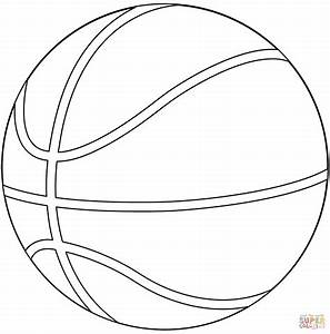 Basketball Ball Coloring Page Free Printable Coloring Pages