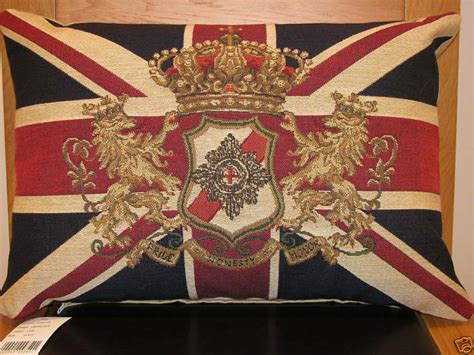 Union Cusions by Union Crown Flag Tapestry Cushion